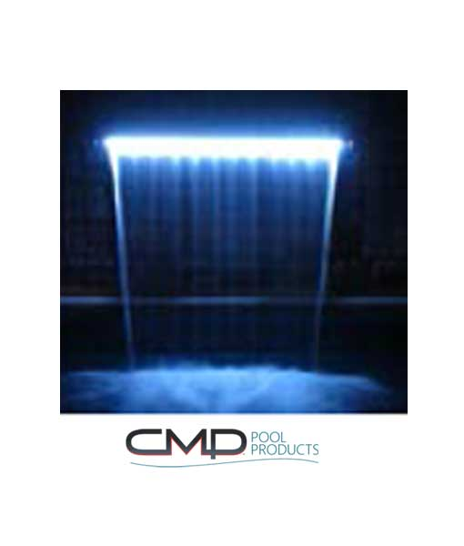 Cascada led azul
