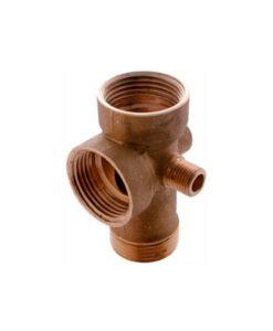Conector de 5 vías en bronce