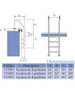 Medidas de escaleras